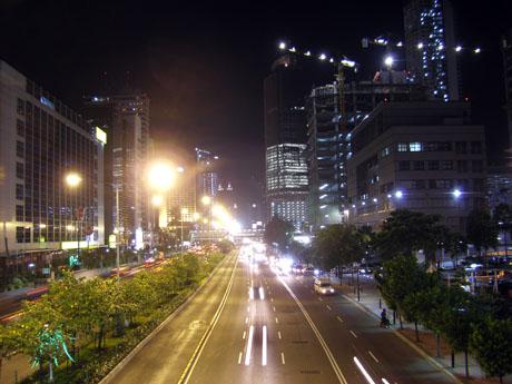 Jakarta keine Seitenstraße